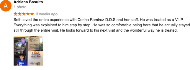 Google+ Review for Corina Ramirez, DDS - Pediatric Dental Care