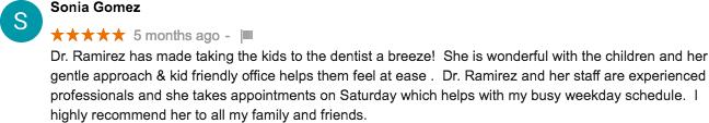 Google+ Review for Corina Ramirez, DDS - Pediatric Dental Care